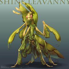 Type Collab: Shiny Leavanny by ShadeofShinon on DeviantArt Pokemon Realistic, Real Pokemon, Realistic Cartoons, Pokemon Stories, Pokemon Official, Monster Concept Art, Space Fantasy, Make Up Art, Creature Design