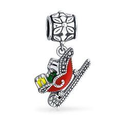 UK SELLER Father Christmas Santa Design Charm Bead for European Bracelet