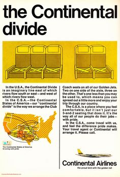 Vintage Airline Aviation and Aerospace Ads - continental-airlines-1970s-ad.jpg - Magazine Advertisement Picture Scans