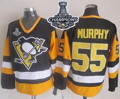Penguins  55 Larry Murphy Black CCM Throwback 2017 Stanley Cup Finals  Champions Stitched NHL Jersey 1f0bee108