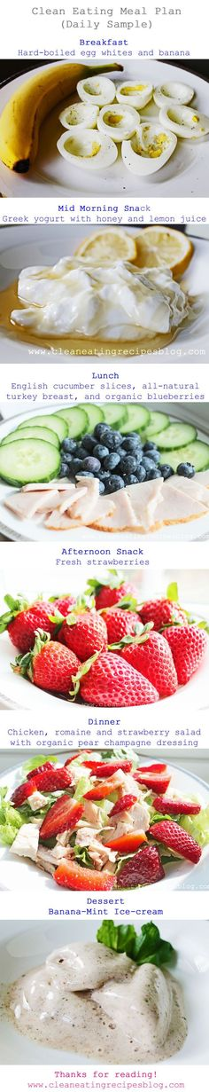 daily clean eating meal plan with clean eating meal ideas healthy meal ideas, healthy meals #healthy
