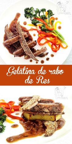 Gelatina de rabo de res con bastones de batata y crocante de pan de centeno en salsa de cebollas caramelizadas        Eneko Atxa