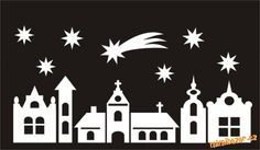 christmas village silhouette - Google zoeken