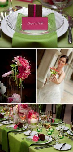 Mariage rose et vert - J'ai dit oui