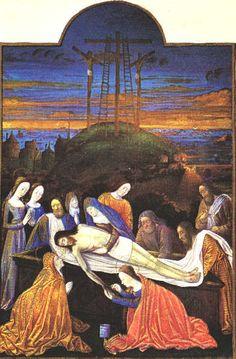 Folio 157r - The Entombment