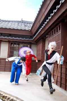 Gintoki Sakata, Kagura, and Shimura Shinpachi - Gintama