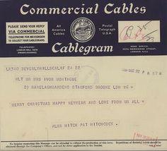 Alfred Hitchcock festive telegram