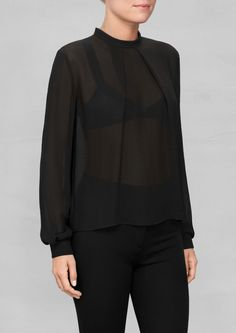 & Other Stories | Stand-Up Collar Blouse