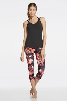 adaa1f11d331a Switch up your style Athletic Outfits, Athletic Wear, Sport Outfits, Floral  Leggings,