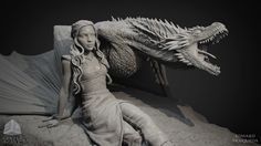 ArtStation - Daenerys Targaryen / Drogon - Game of Thrones statue , Edward…