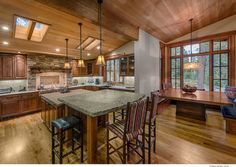 Vintage Tahoe kitchen Ward-Young Architecture & Planning