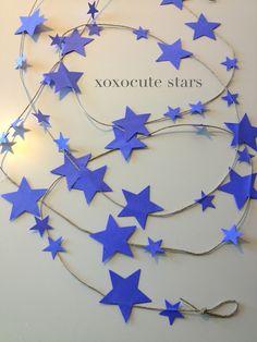 FAIRY LITTLE STARS decoration - baby girls nursery - 9 feet -autumn colors by xoxocute on etsy. $13.00, via Etsy.