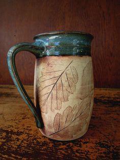 Rustic Woodland Blue Ceramic Coffee Mug by juliaedean on Etsy. $21.00, via Etsy.
