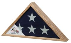 Urns Northwest  - Tiger Stripe Maple Military Flag Case, $219.00 (http://urnsnw.com/tiger-stripe-maple-military-flag-case/). Made in the USA from Tiger Stripe Maple wood. Clear glass front.