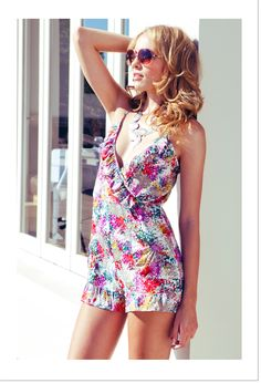 Lulu playsuit - summer colours