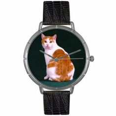 Whimsical Watches Women's T0120045 Manx Cat Black Leather And Silvertone Photo Watch Whimsical Watches. $44.95
