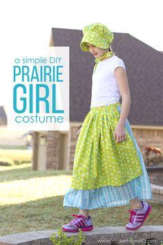 A Simple DIY Prairie (or Pioneer) Girl Costume | via Make It and Love It