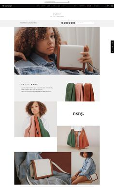Product Website, Asian Design, Layouts, Editorial, Web Design, Crossbody Bag, Product Launch, Template, Bags