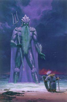 Ulmo se aparece ante Tuor - Multimedia - Ilustraciones, dibujos y fotos sobre El Hobbit, El Señor de los Anillos, la Tierra Media y la obra de J.R.R. Tolkien - Elfenomeno.com