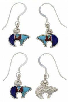 Bear Arrow Jewelry Multicolor Reversible Hook Dangle Earrings PX43556