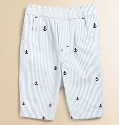 When i have a boy he will wear these everyday!    Hartstrings seersucker pants
