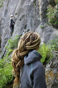 dreadlocks :: #dreadstop I like this even more since I noticed the climbers in the background