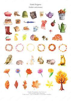 Free Autumn Planner Stickers