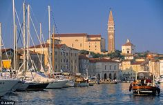 Elegant: The coastal town of Piran was influenced by the architecture of Venice.