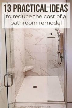 Check out these 13 practical ideas that will REDUCE the amount you are spending on your bathroom renovation! Don't miss out on this Bathroom Remodeling Contractors, Remodeling Costs, Remodeling Ideas, Bath And Shower Products, Next Bathroom, Shower Wall Panels, Shower Pan, Shower Surround, Glass Shower Doors