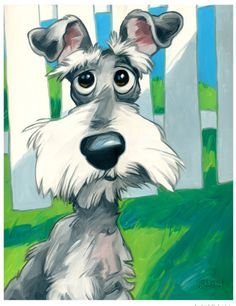 40 Cute Cartoon Dog Caricature Images HDHave you ever wondered we why so many people across the world keep Cute Cartoon Dog Caricature Images HD on their mo Cartoon Dog Drawing, Schnauzer Art, Dog Illustration, Dog Paintings, Dog Portraits, Whimsical Art, Dog Art, Cute Cartoon, Cartoon Images