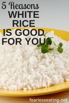 Food for thought: How can billions eat white rice every day and stay relatively thin? Here are 5 reasons why white rice can be a healthy choice.