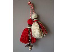 РОДОВА МАРТЕНИЦА С ХЛОПКА Baba Marta, 8 Martie, My Heritage, Tassel Necklace, Tassels, Basket, Crochet, How To Make, Jewelry