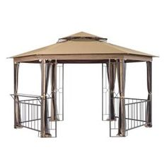 Another from home depot -- saw it set up at Shopko and it looked very nice and cozy.  Looks sturdy too.  However, reviews were only so so.  This one is 12 X 12 X 9 ft.  Lots of room for furniture and a glass serving bar too!