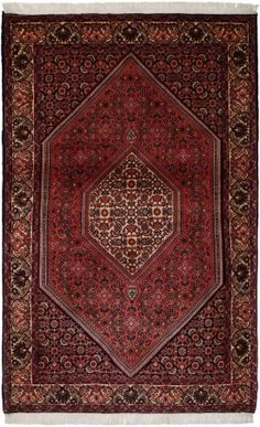 "bidjar Rust Classic Medallion Carpet CS-M992457176 X 112 Cm. (5'8"" X 3'7"" Ft.) - Carpetsanta"