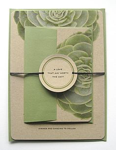 wedding invitations with succlents | Succulent Wedding Invitations Kraft Paper by ... | wedding ideas