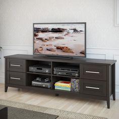 CorLiving TJK-682-B Jackson Extra Wide TV Bench - Espresso
