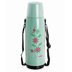 #BuyFromLink http://amzn.to/2945vLs Cello Eaden Belt Flask, 1 Litre, Green (BF_EADN_C.Pista_1000 ml)
