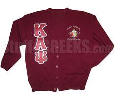 13222cf279770 Kappa Alpha Psi Greek Letter Cardigan with Embellished Crest