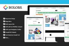 Boloba - Responsive Digital Magento by PlazaThemes.com on Creative Market