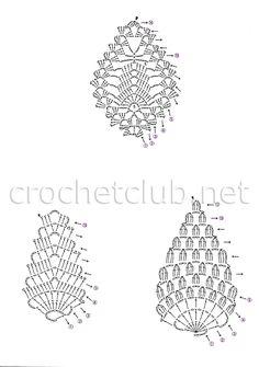 мотивы крючком 42 Crochet Jewelry Patterns, Crochet Earrings Pattern, Crochet Flower Patterns, Crochet Bracelet, Crochet Stitches Patterns, Crochet Accessories, Crochet Flowers, Freeform Crochet, Crochet Diagram