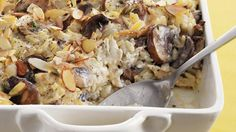 This hearty casserole has it all – chicken, mushrooms, wild rice and broth baked into a delicious dinner.