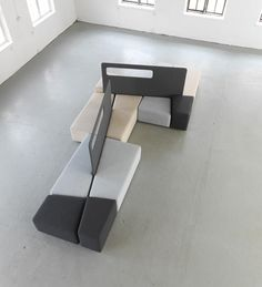 Waiting Area Benches https://www.architonic.com/en/product/martela-oyj-diagonal/1077954#&gid=1&pid=3  See also: 15 Modular Seating Systems for Public Spaces http://vurni.com/modular-seating-public-spaces/