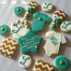 wish upon a star baby shower cookies