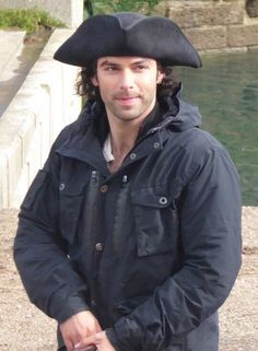 Aidan Turner on the set of #Poldark