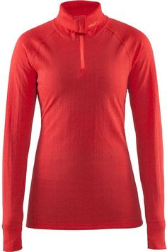7969c5d696a Thermoshirt met rits - Nordic Wool - Lange mouw - Dames - Craft - Rood -