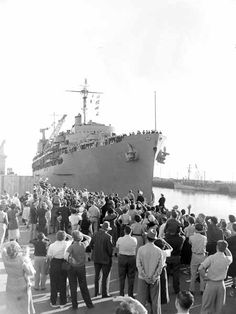 homecoming  USS Hector, 1951 by Baxter Omohundro USN / YN2 / WWII