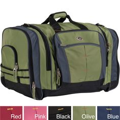 Stay organized on trips to the gym or while traveling with this practical duffel bag from CalPak. The duffel is roomy enough to hold accessories and a change of clothes with ease, and its self-repairing zippers help prevent aggravating zipper troubles.