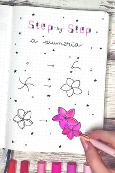17 Amazing Step By Step Flower Doodles For Bujo Addicts – Animal Drawing Bullet Journal Aesthetic, Bullet Journal Art, Bullet Journal Inspiration, Journal Ideas, Daisy Drawing, Doodle Art Drawing, Easy Doodle Art, Flower Doodles, Cute Drawings