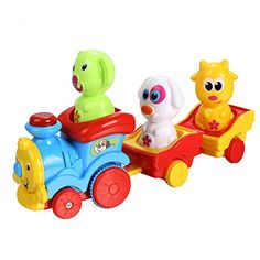 Arshiner Toddler Puppys Music Light Cartoon Animal Train Toys *** Want to know more, click on the image.