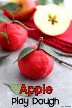 Mmm… I love the smell of nutmeg and cinnamon! It always reminds of Fall! Maybe that's why this Apple Play Dough is one of my favorite sensory play recipes. Not only does it smell so good but it is such a fun activity to add to your units on Autumn or the parts of an apple too.